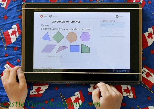 CTC Math for Grade two is easy to do on an Android