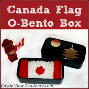 Canada Flag O-Bento Box For Canada Day