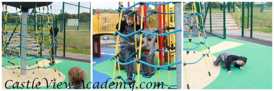 Facing your fears and challenging yourself at the playground
