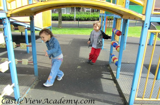 Playgrounds are not just for the sunny days!