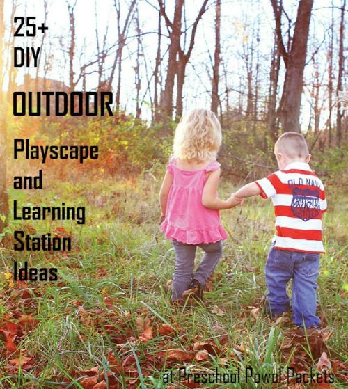 outdoor playscape and learning station ideas