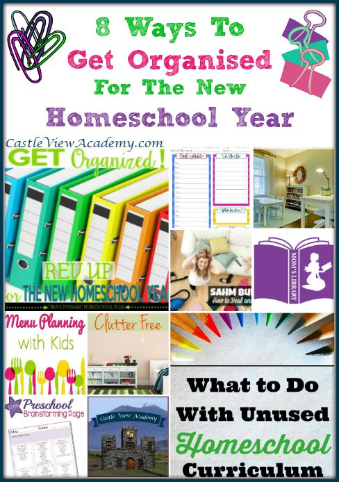 8 Ways To Get Organised For The New Homeschool Year with Castle View Academy and Mom's Library