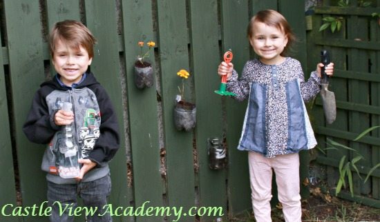 A Vertical garden is a great way for kids to have their own responsibilities