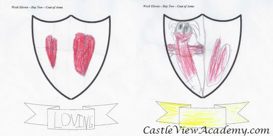 Family Coat of Arms for Castle View Academy, a project from Time Capsule Medielval England