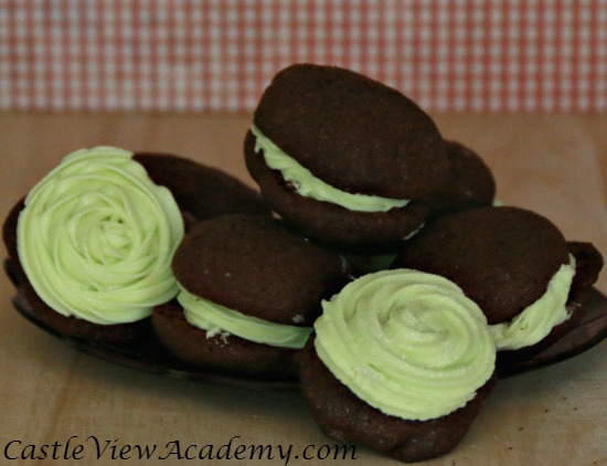 Grasshopper cookies. Chocolate and mint, a perfect match.