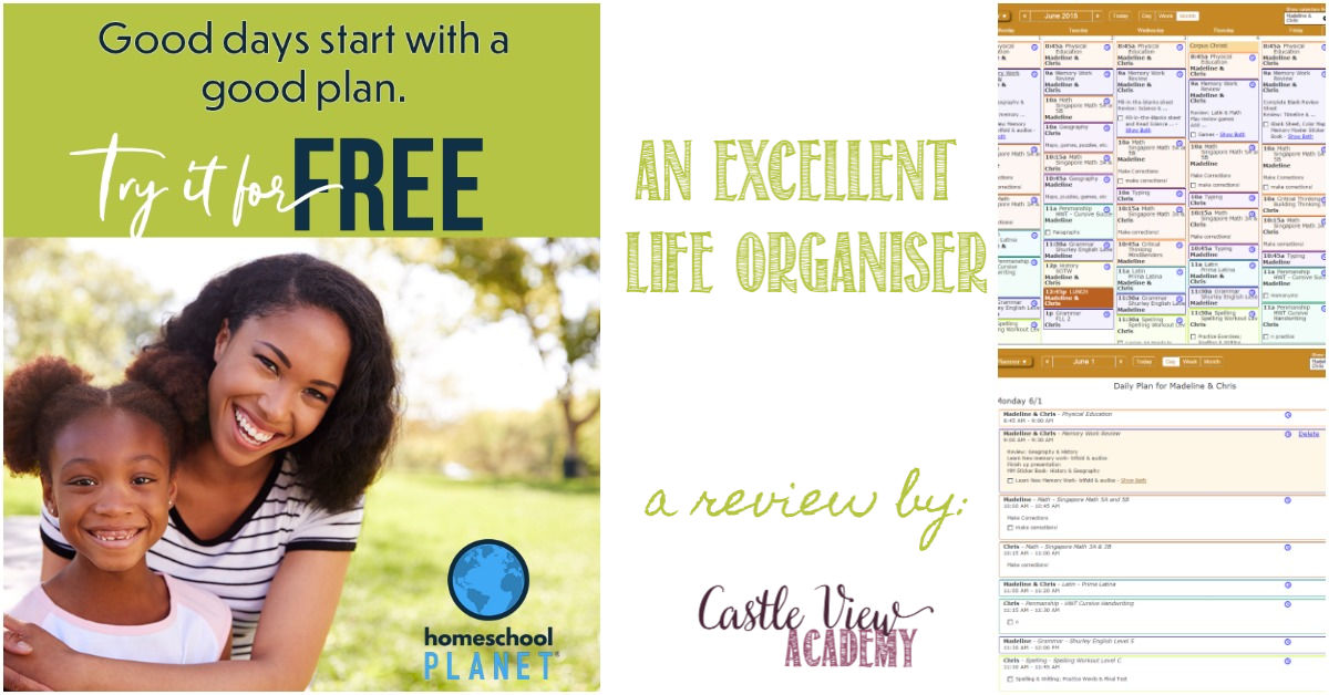 Homeschool Planet is an excellent Life Organiser for Castle View Academy homeschool