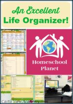 The Best Planner!  A Review of Homeschool Planet