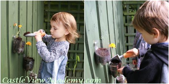 Making a kid's flower garden