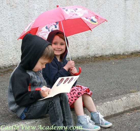Preschool math is cool - even in the rain!