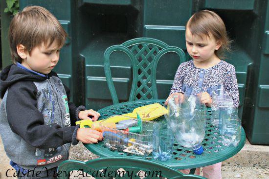 Turn plastic bottles into a beautiful vertical garden