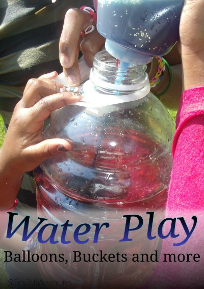 Water-Play with balloons, buckets and more