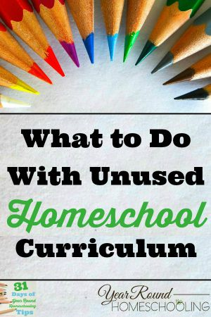 What to do with old homeschool curriculum