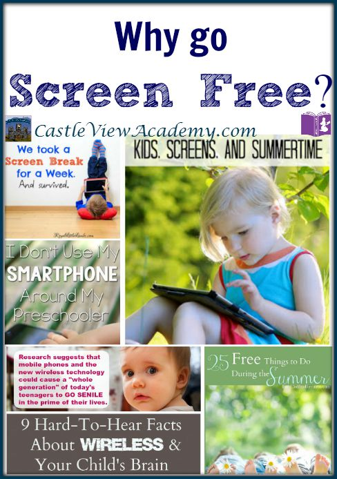 Why Go Screen Free? Reasons to do it, and what you can do instead!