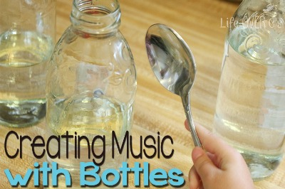 creating music with bottles