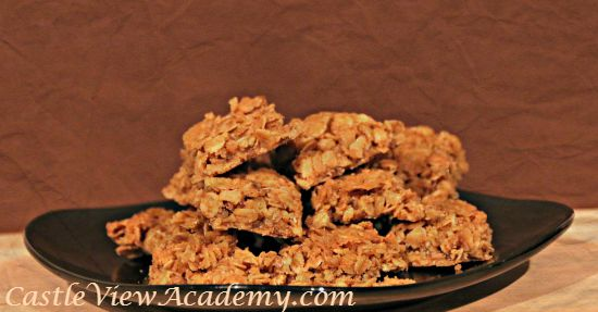 Butterscotch Oatmeal Squares are delicious for a small dessert or an afternoon snack