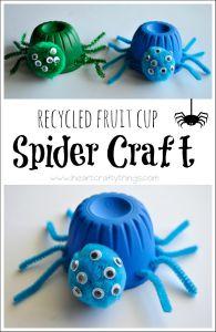 Fruit Cup Spider Craft
