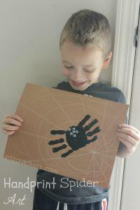 Handprint-Spider-on-Web-Art