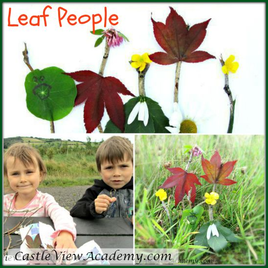 Leaf People adapted from the book Learn With Play 150+ Activities for Year-round Fun & Learning