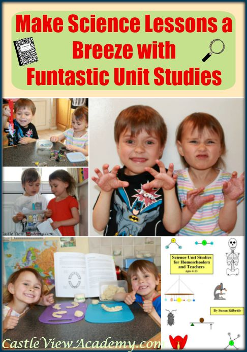 Make science lessons a breeze with Funtastic Unit Studies Science unit studies for homeschoolers and teachers. You'll find lots of science ideas for teachers.