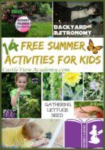 14 Free Summer Activities For Kids