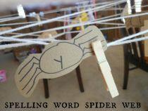Spelling word spider web