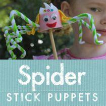 Spider Stick Puppets