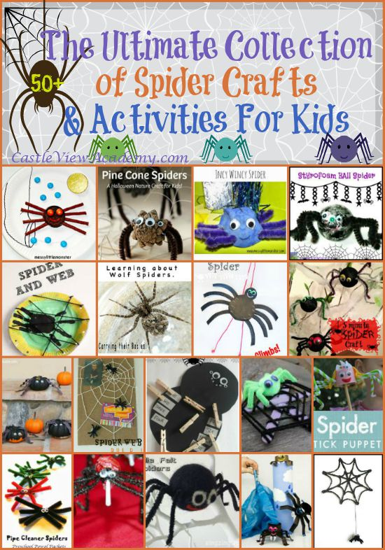 The Ultimate Collection of Spider Crafts And Activities For Kids. Cute and educational ideas to keep kids busy this fall!