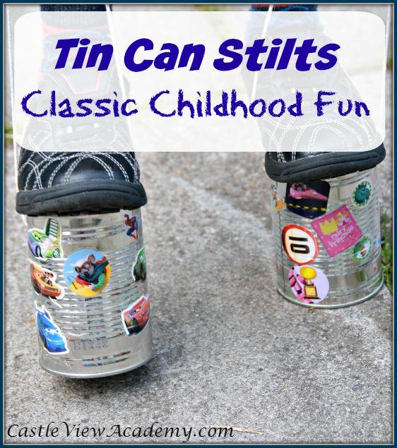 Tin can stilts Classic childhood fun