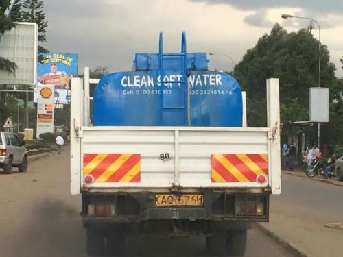 Trucking water in Kenya