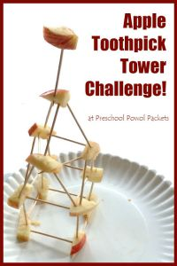 apple toothpick tower challenge