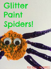 glitter-spiders