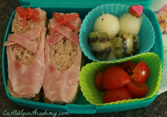 Ballerina Bento box for my little girl made her happy all afternoon