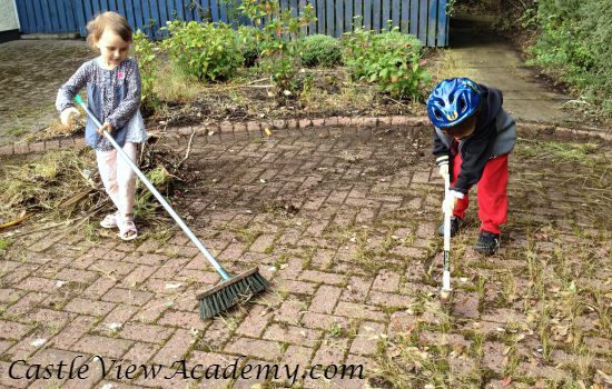 Cleaning up the street helps make our area happy and is appreciated by the neighbours