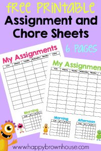 Free-Printable-Assignment-and-Chore-Sheets
