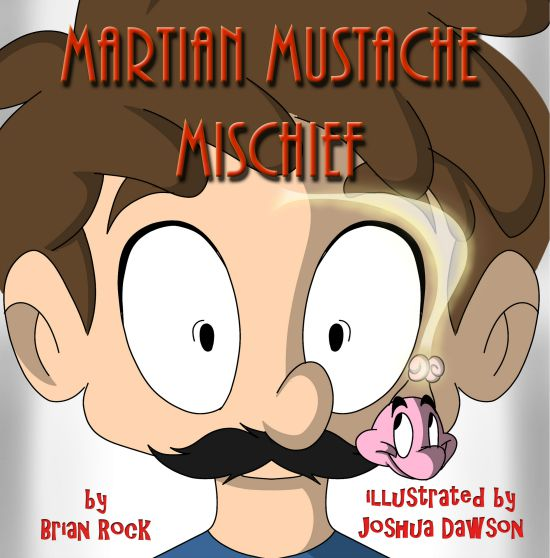 We've recently been introduced to a new children's author: Brian Rock. We've been reading his newest book, Martian Mustache Mischief, and the kids have been giggling their way through it!