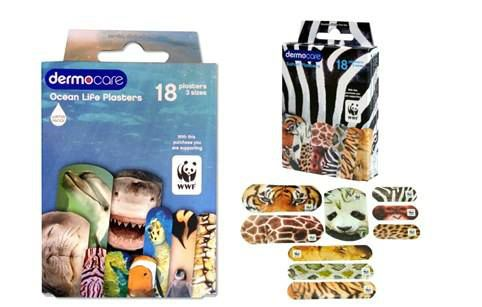 Ocean Life and Safari plasters support the WWF