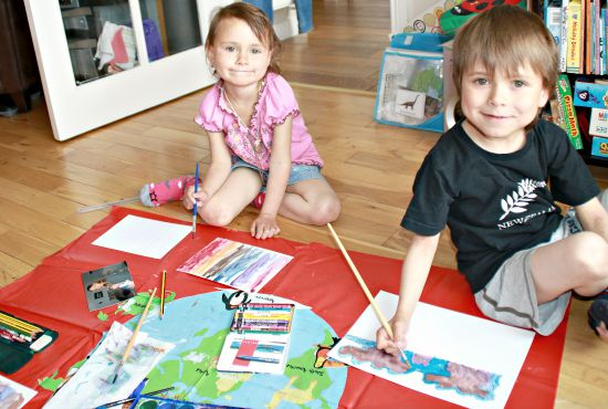 Painting pictures for family overseas