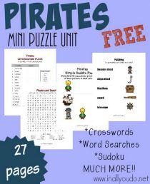 Pirates mini puzzle unit