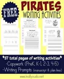 Pirates writing activities