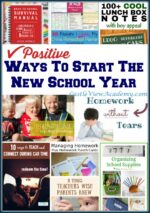 Positive Ways To Start The New School Year