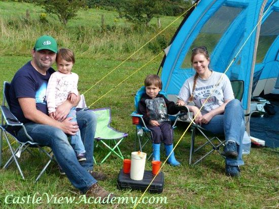 Spending time together as a family is fun when you're camping