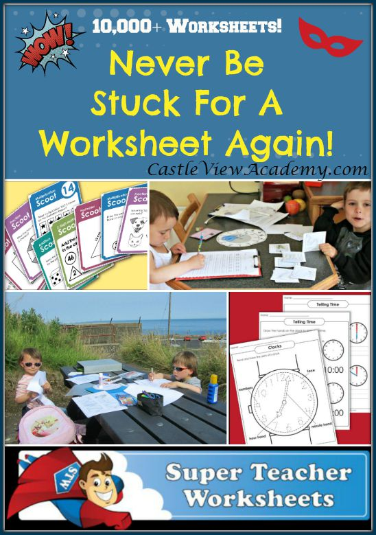 Teacher helpers never look for another worksheet again with Super Teacher Worksheets. Over 10,000 to choose from.