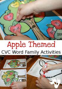 apple cvc word family sort