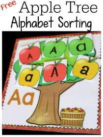apple tree alphabet sorting