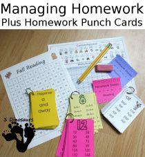 managing homework-punchcard