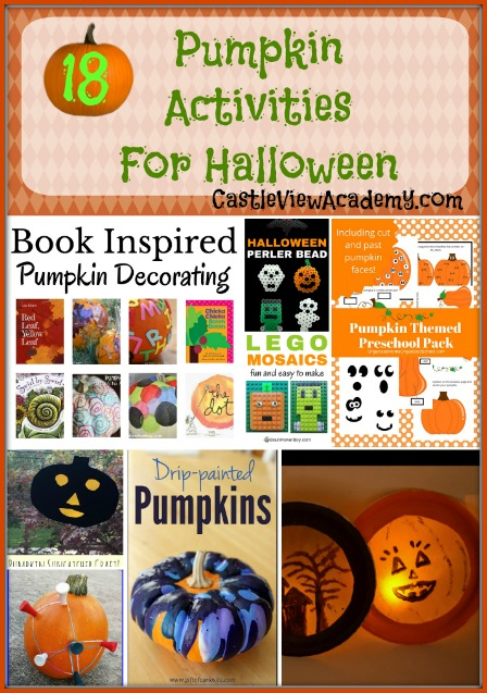 18 Pumpkin Activities for Halloween on Mom's Library with CastleViewAcademy.com