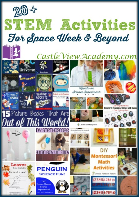 20+ STEM Activities for Space Week and Beyond on Mom's Library with CastleViewAcademy.com