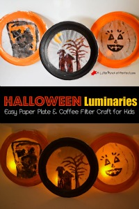 Halloween Paper Plate Luminary Craft_A Little Pinch of Perfect