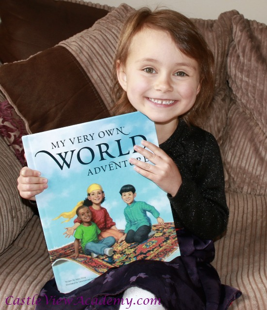 Her very own personalised book with her name spelled out from I See Me!