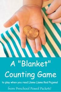 llama llama red pajama counting blanket game